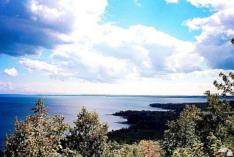 Fantastischer Himmel über Lake Huron